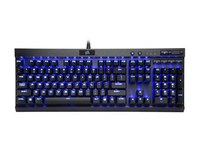Refurbished: Corsair Certified Refurbished K70 LUX (CH-9101030-NA) Mechanical Keyboard, Backlit Blue LED, Cherry MX Red, USB Passthrough and Media Controls