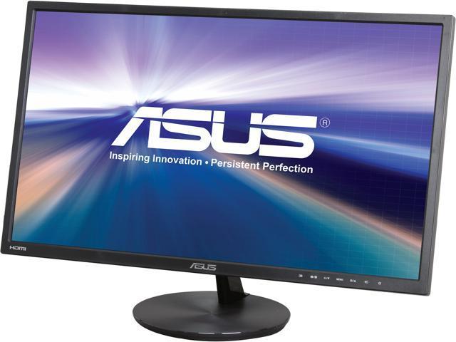 "ASUS VN248H-P Slim Bezel Black 23.8"" 5ms (GTG) HDMI Widescreen LED Backlight LCD Monitor IPS 80,000,000:1, Built-in Speakers"