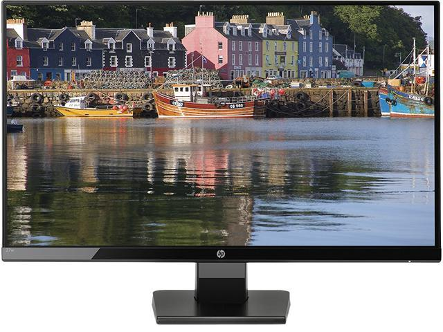 "Refurbished: HP 27w 1JJ98AA Black 27"" 5ms GTG Widescreen LED Backlight Full HD 1920 x 1080 @ 60Hz Monitor VGA,HDMI 250 cd/m2 DCR 10,000,000:1 (1,000:1)"