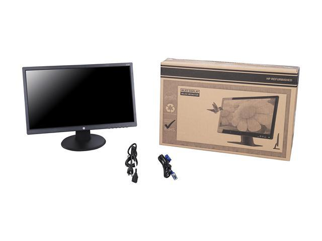 "Refurbished: HP 22UH 21.5"" 5ms HDMI Widescreen LED Backlight LCD Monitor 250 cd/m2 DCR 10,000,000:1 (1,000:1),"
