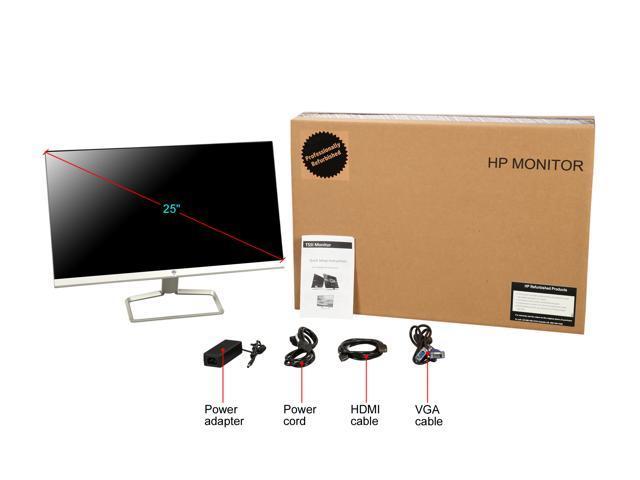"Refurbished: HP 25f 25"" Full HD 1920x1080 75Hz 5ms AMD FreeSync VGA 2xHDMI Backlit LED IPS Monitor - OEM"