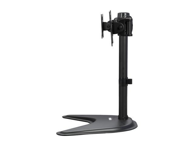 "Rosewill RMS-DDM06 Dual Desk Stand, Foldable Arm, Support 13"" - 27"" LCD / LED Display VESA 75 / 100, Tilt +/- 15 degree, Swivel 30 degree, Rotate 360 degree, Max. Load: 17.64 lbs."