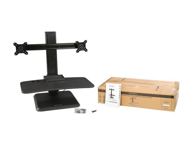 Rosewill Dual Monitor Stand Height Adjustable Desk, Standing Desk Converter, Sit Stand Desk Riser for Screens up to 24""