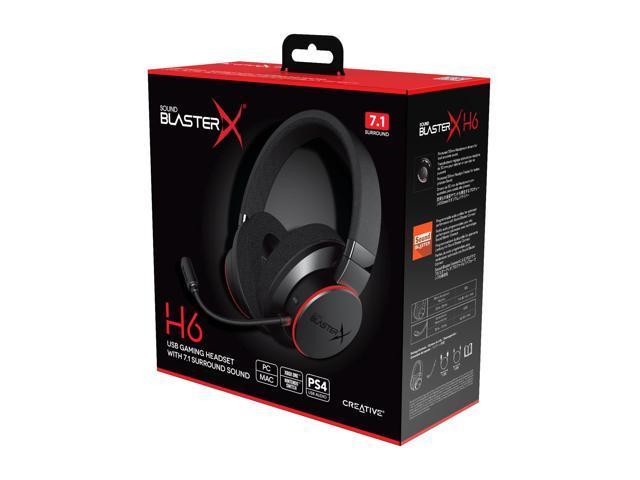 Creative Sound BlasterX H6 USB Gaming Headset - Black