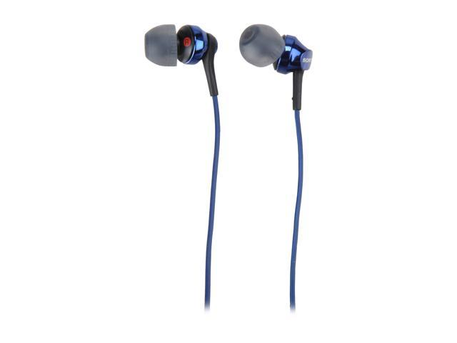 Refurbished: SONY Blue MDR-EX100AP/L In-Ear Headset for Android Smartphone