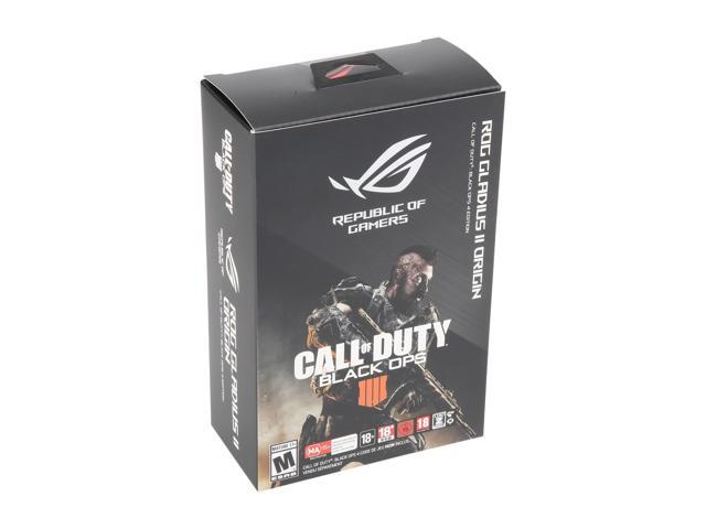 ASUS ROG Gladius II Origin Call of Duty: Black Ops 4 Edition Wired USB Optical Ergonomic FPS Gaming Mouse featuring Aura Sync RGB, 12000 dpi Optical, 50G Acceleration, 250 IPS sensors and swappable Omron switches