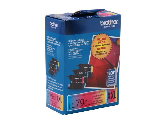 Brother LC793PKS Super High Yield Innobella Ink Cartridge - Combo Pack - Cyan/Magenta/Yellow