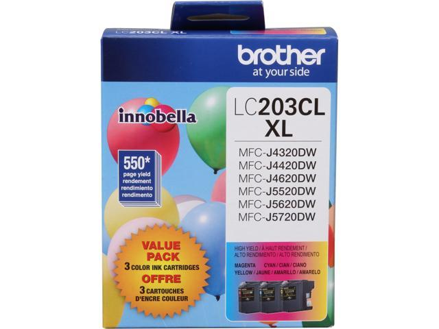 Brother LC2033PKS Super High Yield Innobella Ink Cartridge - Combo Pack - Cyan/Magenta/Yellow