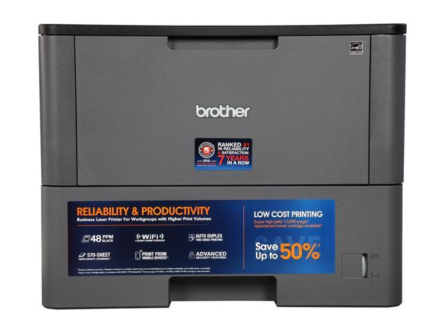 Brother HL-L6200DW Wireless Monochrome Laser Printer with Mobile Printing, Duplex Printing and Large Paper Capacity
