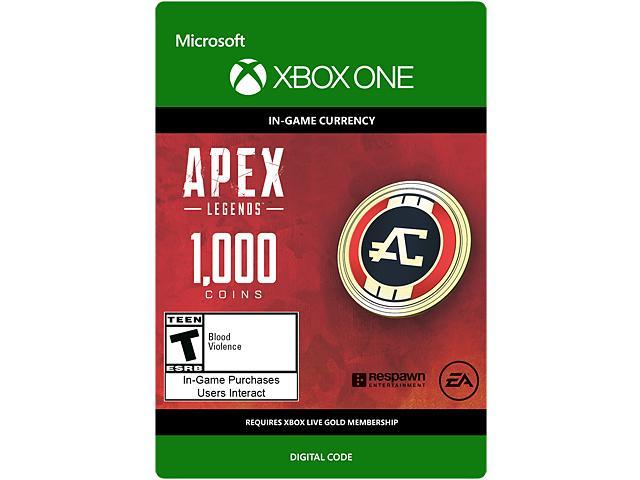Apex Legends 1000 Coins Xbox One Digital Codepromotional