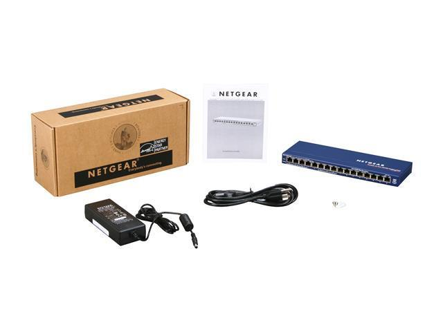 NETGEAR 16-Port Fast Ethernet Unmanaged Switch, 70w 8xPoE, ProSAFE Lifetime Protection (FS116PNA)