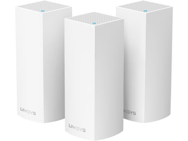 Linksys Velop Tri-band Whole Home Wi-Fi Mesh System, 3-Pack (Coverage Up to 6000 sq. ft.), Works with Amazon Alexa