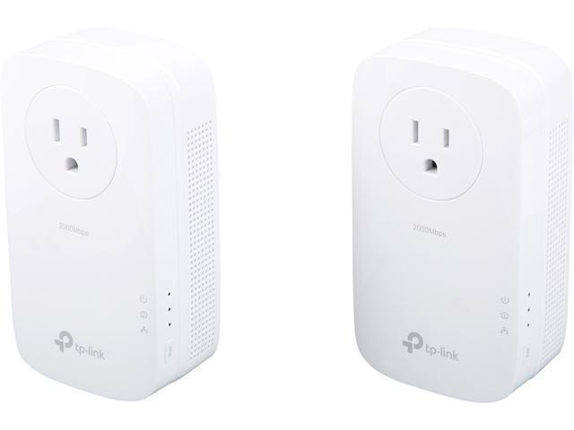 Refurbished: TP-Link AV2000 Mbps Powerline Ethernet Adapter - Gigabit Port, Ethernet Over Power, Plug&Play, Power Saving, MU-MIMO, Noise Filtering