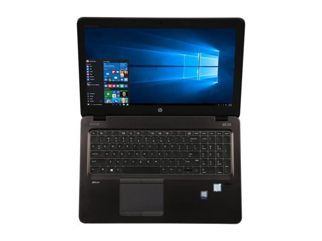 "Refurbished: HP Grade A Laptop ZBook 15U G3 Intel Core i7 6th Gen 6600U (2.60 GHz) 16 GB Memory 512 GB SSD 15.6"" Windows 10 Pro 64-bit"