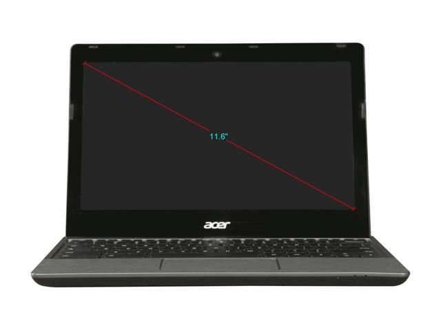"Refurbished: Acer Grade B C720 Chromebook Intel Celeron 2955U (1.40 GHz) 4 GB Memory 16 GB SSD 11.6"" Chrome OS"