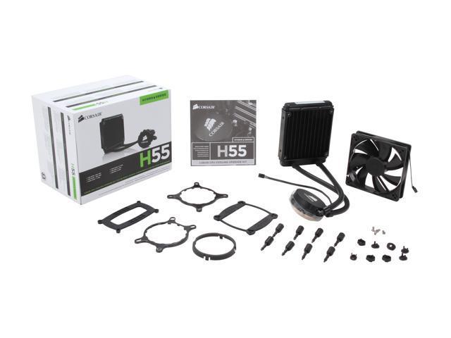 CORSAIR Hydro Series H55 Quiet Edition Water / Liquid CPU Cooler 120mm (CW-9060010-WW)
