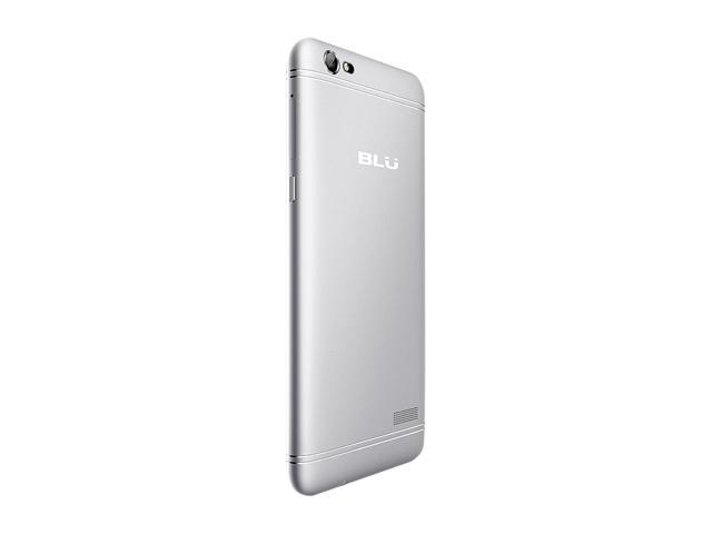 "Blu Grand X LTE G0010WW 4G LTE Unlocked GSM Dual-SIM Phone w/ 8 MP Camera 5"" Silver 8GB 1GB RAM"