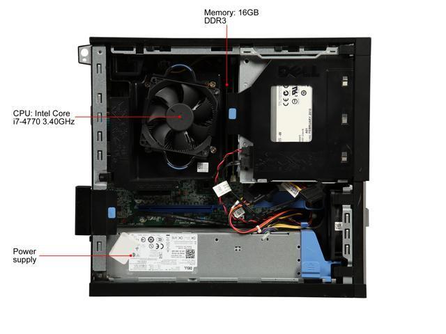 Refurbished: DELL Grade A Desktop Computer OptiPlex 9020 Intel Core i7 4th Gen 4770 (3.40 GHz) 16 GB DDR3 512 GB SSD Windows 10 Pro 64-bit