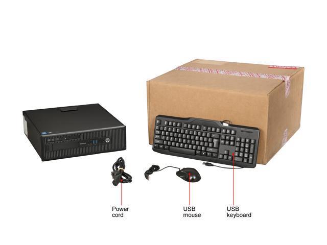 Refurbished: HP Grade B Desktop Computer 800 G1 Intel Core i5 4th Gen 3.2 GHz 8 GB 500 GB HDD Windows 10 Pro 64-Bit