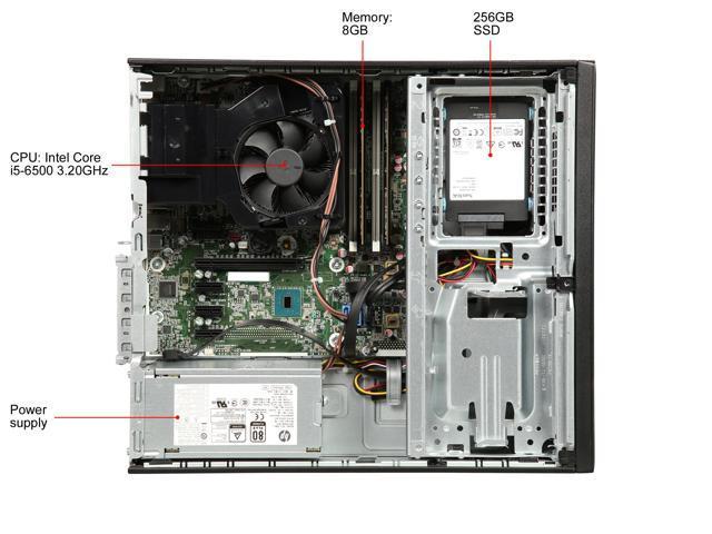 Refurbished: HP Grade A Desktop Computer ProDesk 600 G2 Intel Core i5 6th Gen 6500 (3.20 GHz) 8 GB DDR4 256 GB SSD Intel HD Graphics 530 Windows 10 Pro 64-bit
