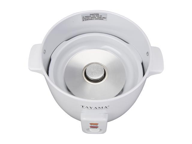 Tayama RC-3  3 cups uncooked/6 cups cooked Rice Cooker with Steam Tray, White