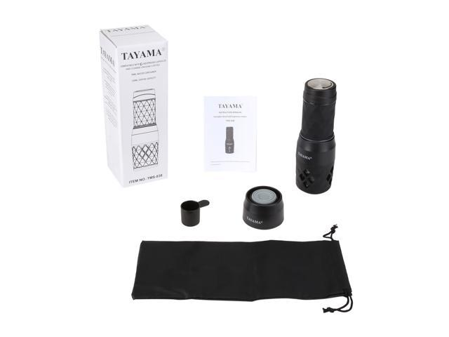 Tayama TMS-838 Portable Hot/Cold Espresso Machine, Black
