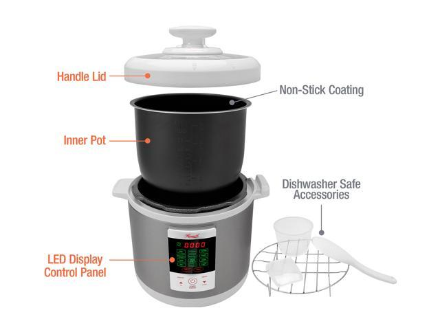 Rosewill RHPC-15001 6L Electric Pressure Cooker, 8-in-1 Programmable Multi Cooker