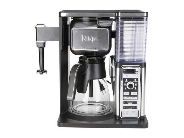 Refurbished: Ninja CF090 Coffee Bar Glass Carafe System, Black/Silver (Certified Refurbished)