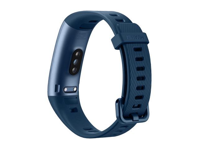 HUAWEI Band 3 Pro All-in-One Fitness Activity Tracker, 5ATM Water Resistance for Swim, 24/7 Heart Rate Monitor, Built-in GPS, Multi-Sports Mode, Sleep Tracking, Blue (Terra-B19)