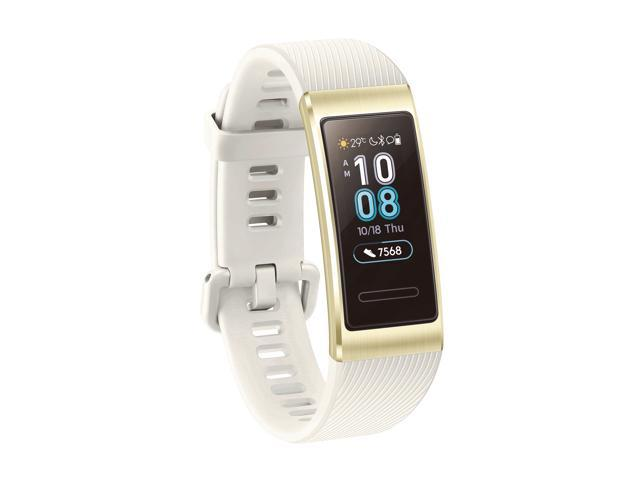 HUAWEI Band 3 Pro All-in-One Fitness Activity Tracker, 5ATM Water Resistance for Swim, 24/7 Heart Rate Monitor, Built-in GPS, Multi-Sports Mode, Sleep Tracking, Quicksand Gold (Terra-B19)
