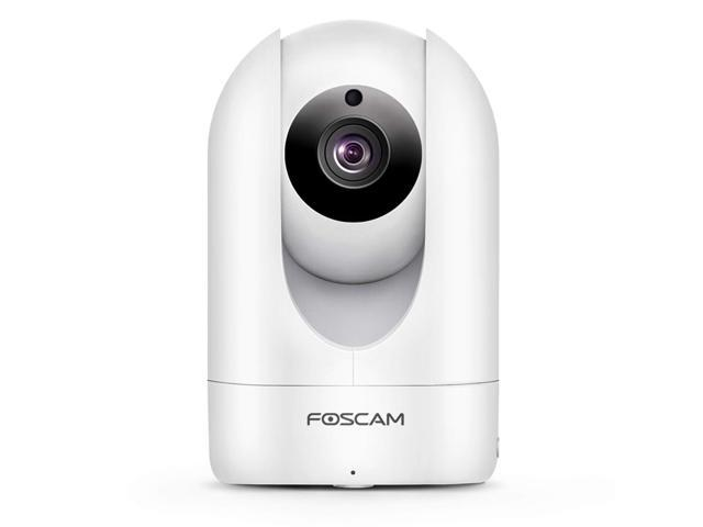 Foscam R2C WiFi 1080p HD IP camera, 2mp indoor pan/tilt home security surveillance camera with night vision, two-way audio, motion/sound detection, free image/video cloud service available, White