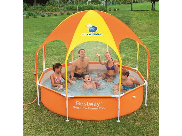 Bestway Splash-in-Shade Kids Play Pool with Canopy