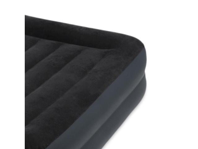 Intex Dura-Beam Pillow Rest Airbed w/ Fiber-Tech Built-In Pump, Queen | 64123E
