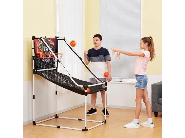 Lancaster 2 Player Junior Indoor Arcade Basketball Dual Hoop Shooting Game Set