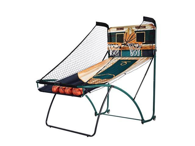 Lancaster EZ-Fold Indoor Basketball Hoop Shooting Arcade Game Set w/ Basketballs
