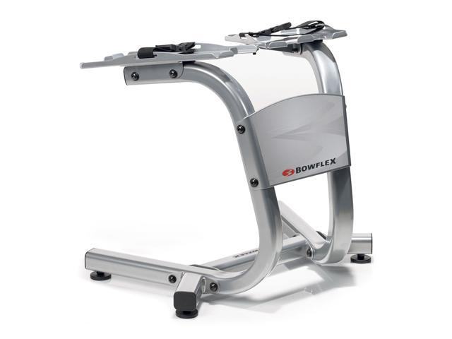 Bowflex 100300 SelectTech Metal Dumbbell Stand with Built-In Towel Rack, Silver