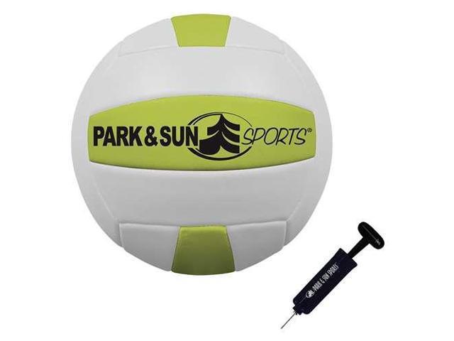Park & Sun Sports Tournament Flex 1000 Family Volleyball Net Set, Green