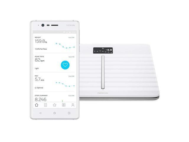 Withings Body Cardio Wi-Fi Smart Scale with Body Composition and Heart Rate - White