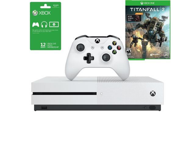 Microsoft Xbox One S Console 1TB Console and 12M Gold Membership & Titanfall 2 with Nitro DLC Bundle