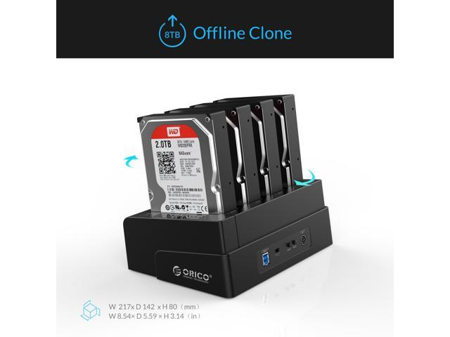 ORICO 4 Bay USB 3.0 SATA Hard Drive Docking Station/Duplicator for 2.5 inch & 3.5 inch HDD -Black (6648US3-C-V1)