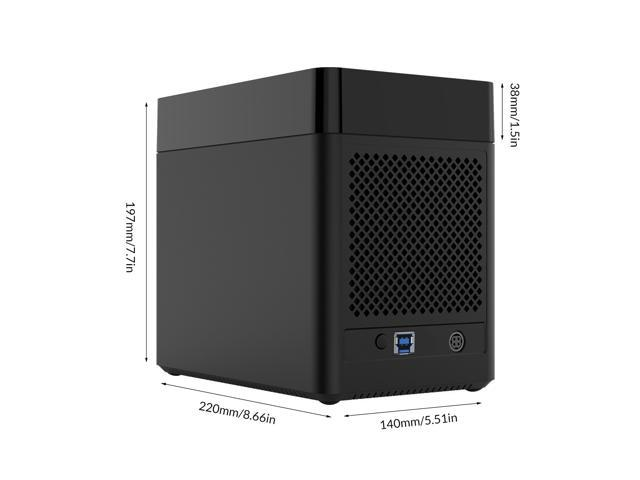 ORICO 50TB 5 Bay External Enclosure Magnetic-type 3.5 inch Hard Drive Enclosure SATA I/II/III to USB 3.0  3.5 in HDD Case Support UASP With 12VPower Adapter