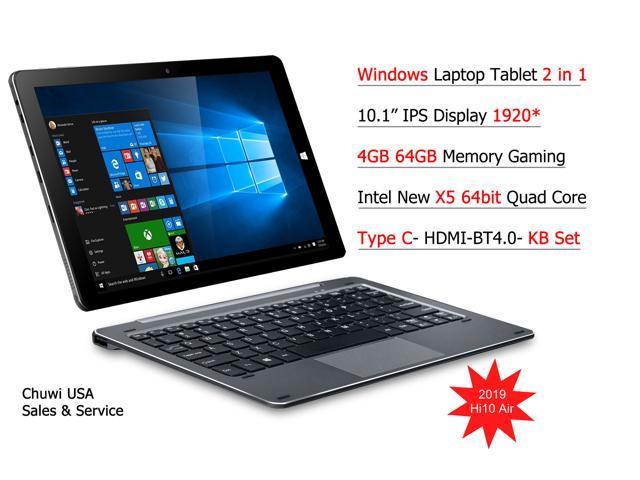 ChuwiUSA HI10 Air Tablet,10.1 inch Intel Cherry Trail X5 Tablet PC,4GB+64GB Windows 10 OS, WiFi, BT4.0, 2K Resolution Screen + Detachable Keyboard Docking