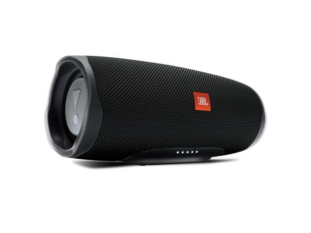 JBL Charge 4 Portable Bluetooth Speaker with LIVE 400BT Wireless On-Ear Headphones with Voice Control (Black)