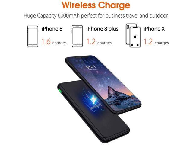 Jackery AirRocket Wireless Charging 6000mAh Portable Power Bank - Black