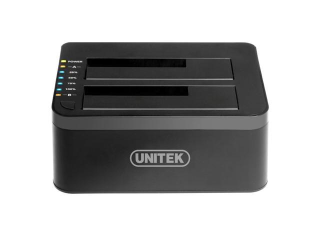 UNITEK USB 3.0 to SATA Dual Bay External Hard Drive Docking Station with Offline Clone Function, for 2.5/3.5 Inch HDD SSD SATA I/ II/ III