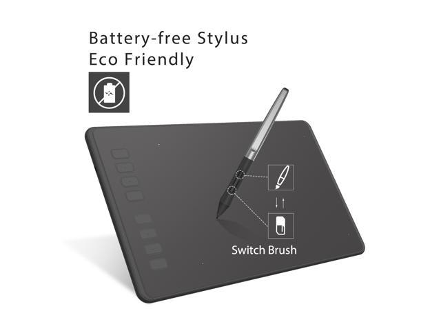 Huion Inspiroy H950P Graphics Drawing Tablet with Battery-free Pen 8192 Pressure Sensitivity and 8 Programmed Express Keys