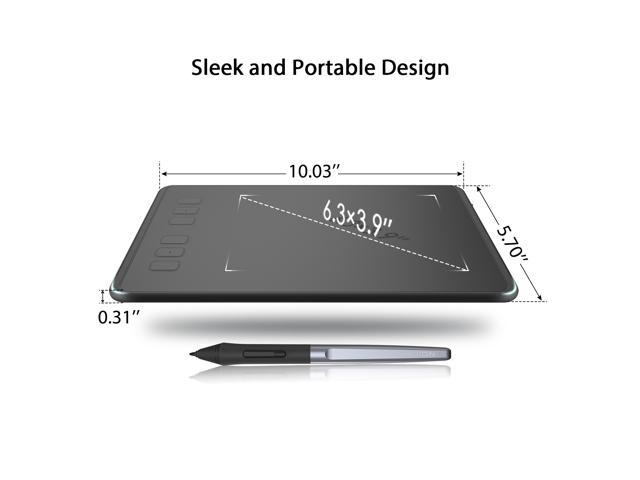 Huion INSPIROY H640P Digital Graphics Drawing Pen Tablet with Battery-Free Pen 8192 Pressure Sensitivity and 6 Shortcut Keys