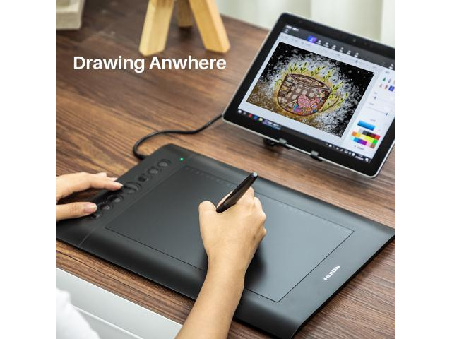 Huion H610PRO V2 Graphics Drawing Tablet with 8 Express Keys