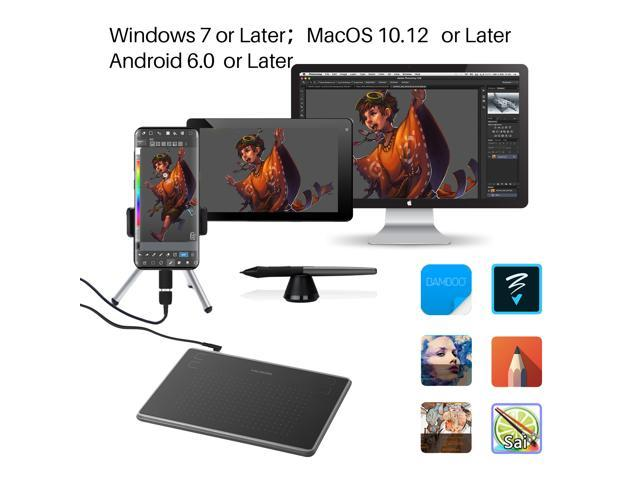 Huion H430P OSU Graphics Drawing Tablet with Glove and 4
