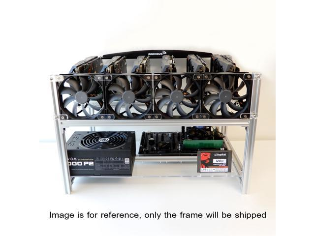 AAAwave AAAMC59 - Stackable 6 Graphics Card Case BTC LTC Coin Mining Server Chassis with Fan Fixing Parts